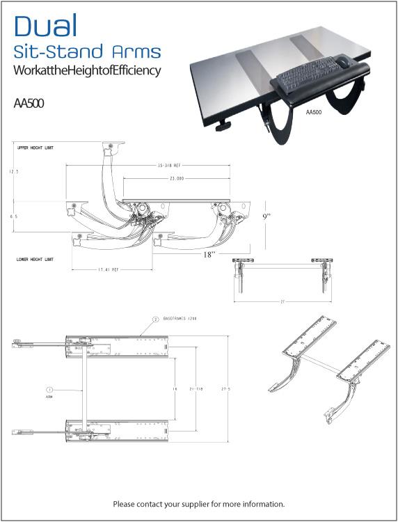 Esi Sit Stand Keyboard Arm Amp Platform System Alternate