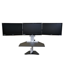 Kangaroo Elite Desktop Sit Stand Workstation Triple Monitor